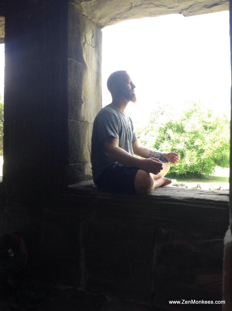 Meditation Angkor Wat zen monkees