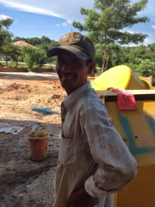 Khmer construction worker