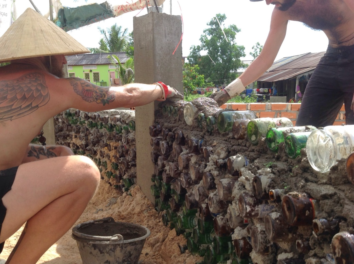 Volunteering with Let Us Create Cambodia, Part 1: Building an Earthship School