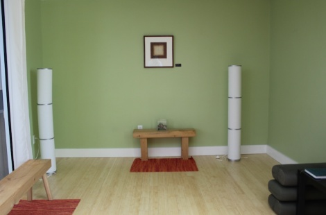 The Burlington International Airport yoga room, photo curtesy of theAtlantic.com