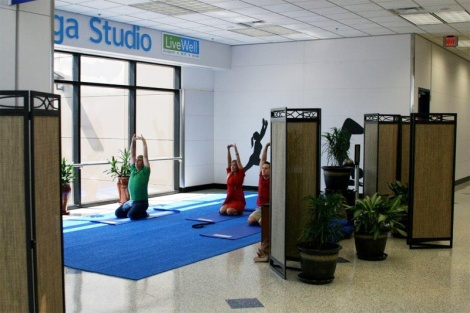 Yoga room in Dallas Fort Worth Airport. Photo curtesy of blog.sleepinginairports.net