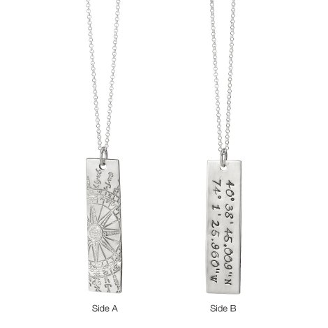 uncommon goods latitude longitude pendant